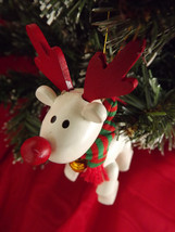 2 Avon Ornaments, Vintage Christmas Holiday Rudolph the Red Nose Reindeer and Sn - $24.00