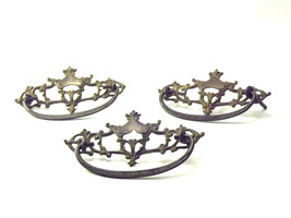 Vintage Metal Drawer Pulls Ornate old Victorian... - $46.00