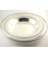 Siver Serving Bowl, Silver Plate Wm Rogers Round Fruit Bowl, Ornate Ropi... - $34.00