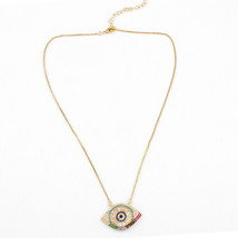 "18"" Silver Crystal Evil Eye Fashion Necklace for Women for Protection #3710 - $9.99"