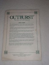 Outburst Replacement Board Game Instructions Only Parts - $8.59
