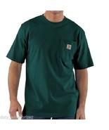 NEW Carhartt Men's Medium Short Sleeve Cotton Pocket T-Shirt Hunter Gree... - $20.81