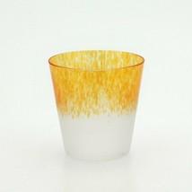 Japanese Whiskey Rock Glass Uekoshi Crystal Tumbler Freeze Rock Orange J... - $45.47