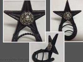 Lone Star Long Horn Metal Letter Holder Vintage - $13.99