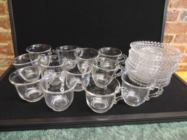 Vintage Candlewick Set Of 12 cups & saucers - $92.57
