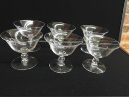Set of 6 Vintage Imperial Candlewick Dessert Glasses - $92.57