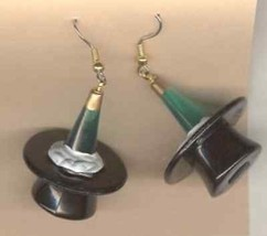 Funky CHAMPAGNE BOTTLE TOP HAT EARRINGS-Wedding Charm New Years Costume ... - $5.99
