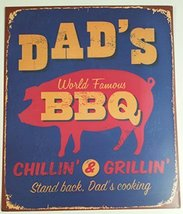 Retro Look Dad's BBQ Wall Plaque - $14.99