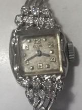 "195 O's Vintage Diamond & White Gold Ladies Watch ""Super Nice"" - $272.25"