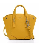 NWT FURLA 783354 B BES3 VMT Perla Mini Leather Satchel Bag Girasole 012 ... - $238.40