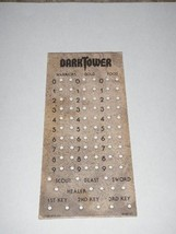 Dark Tower Board Game Replacement Score Chart Piece Original 1981 - $14.01