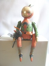Robin Seeber  Pumpkin Jack Doll Figure Halloween Crow Wand Bethany Lowe ... - $58.91