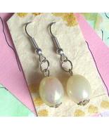 Reclaimed Ivory Beads Earrings Bridal Event Som... - $6.25