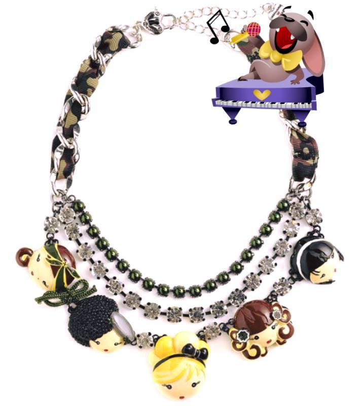 Gwen Stefani Fashion Jewelry Necklace Harajuku Lovers Love ...