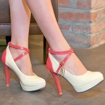 Size 534s147 color candy Sexy 34 white strappy 39 crossed pumps na71qUw