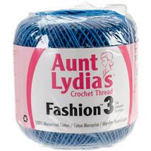 Aunt Lydia's Fashion Crochet Thread Size 3-Blue... - $2.39