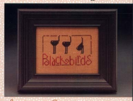 CLEARANCE Blackbird Parade Wee One cross stitch chart Heart in Hand - $3.00