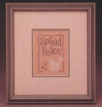 CLEARANCE Peace Wee One cross stitch chart Heart in Hand - $3.00
