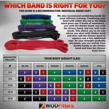 WODFitters Pull Up Assistance Bands - Stretch Resistance - Mobility Band - 5 pcs image 5