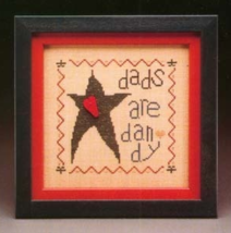 CLEARANCE Dad Wee One cross stitch chart Heart in Hand - $2.50
