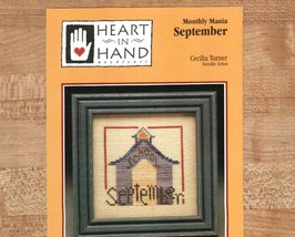 CLEARANCE September Monthly Mania Heart in Hand mini cross stitch chart - $1.50