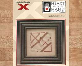 CLEARANCE X Xylophone Alphabet Mania Heart in Hand mini cross stitch chart - $1.50