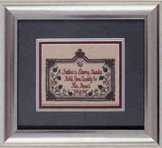 CLEARANCE Fathers Teenie Tweenie mini cross stitch chart charm Sweetheart Tree - $4.50