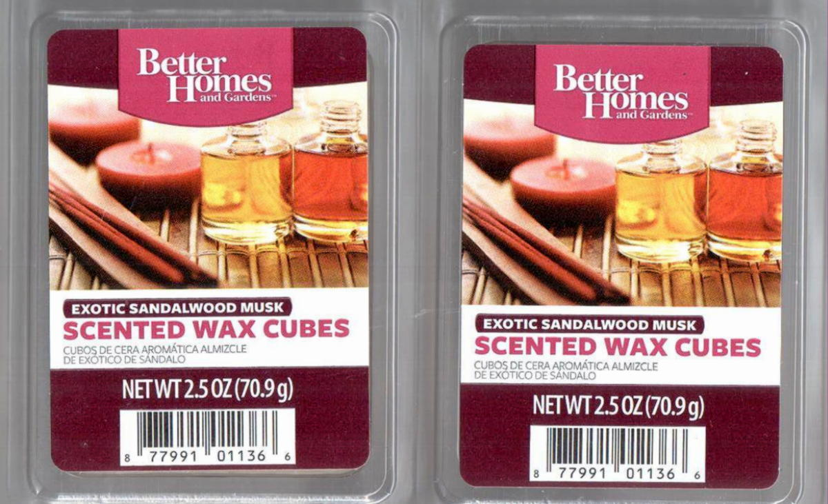 Exotic sandalwood musk better homes and gardens scented - Better homes and gardens scented wax cubes ...