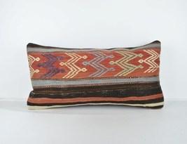 rug lumbar pillow kilim lumbar12x24 lumbar cushin lumbar kilim pillow ... - $18.00