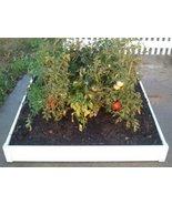 Handy Bed 48-inch x 48-inch x 6-inch White Vinyl Raised Garden Bed - $59.75