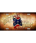Alabama Southern Pride Confederate Flag  Tag S... - $18.99