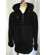 J PERCY Marvin Richards Suede Leather Hooded Co... - $58.79