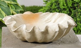"15"" Nautical Shell Design Displayer Bowl Polystone NEW"