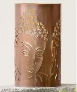 "7.8"" Antiqued Copper Cut-Out Iron Buddha Tealight Candle Holder Zen Medi... - $32.66"