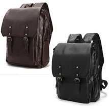 Hiking Student Bag Satchels Retro Leather Bag Men's Backpacks Leather B... - $35.97