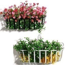 Flowerpot Shelf  Wall Plants Shelf Iron Flower Baskets Hanging Basket - $36.89 CAD