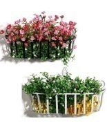 Flowerpot Shelf  Wall Plants Shelf Iron Flower Baskets Hanging Basket - $35.42 CAD