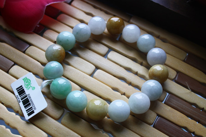 Free Shipping -  Burma Jadeite Jade natural Colorful jade stone  Prayer Beads ch