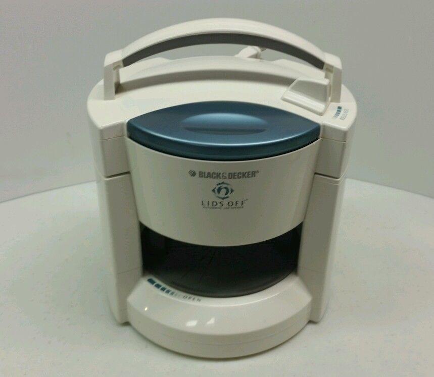 Black decker automatic electric jar opener lids off
