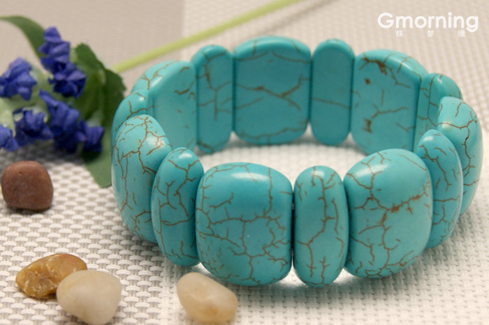 Free Shipping -  100% natural Turquoise meditation yoga  Prayer Beads charm brac