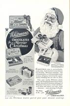 1933 Whitman's Chocolates Christmas Santa Claus ad - $10.00
