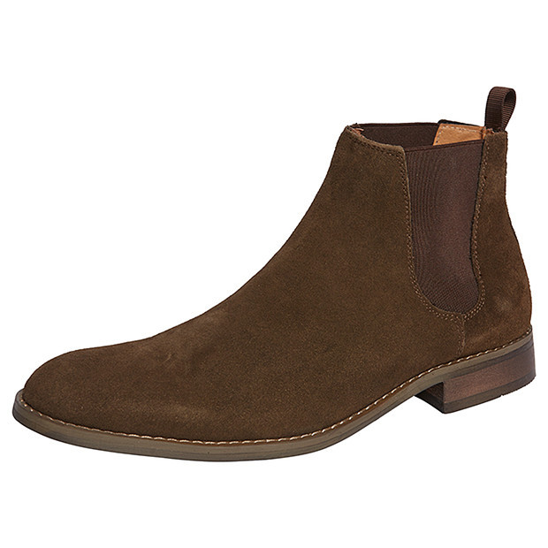 handmade mens brown ankle suede leather boots mens