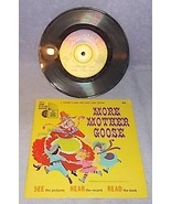 Vintage Walt Disney's More Mother Goose See Hear Read Record Book 1971 - $5.95