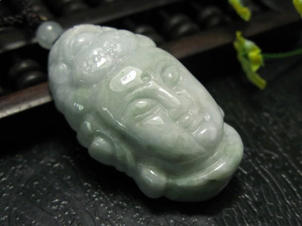 Free shipping - Good Luck Burma Jadeite Jade carved Buddhist Bodhisattvas / Budd
