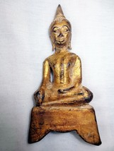 SO RARE! Big Ancient Gold Pra Chai-Sam-Kha Ayuttaya Era Top Thai Buddha Amulets - $69.99