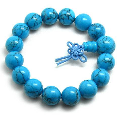 Free Shipping -  natural Turquoise meditation yoga  Prayer Beads charm bracelet