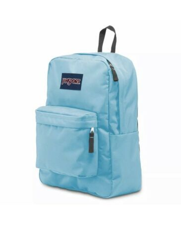 Primary image for BNWT Girl's JanSport Superbreak Backpack/Bag/Book bag   1550 cu.in. Blue Topaz