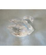 "Swarovski Crystal Figurine 7633 NR50 2 1/4"" Swan in Original Box - $30.59"