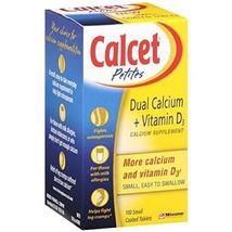 Calcet Petite Dual Calcium + D3 Tablets 100 Count Per Bottle 6 Bottles - $57.02