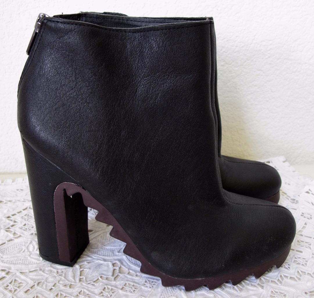 7fbdf369d ... Sam Edelman Circus Extreme Tread Kensley Bootie Ankle Boot 8.5M US  Black Leather ...